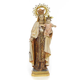 Vierge du Carmel 40 cm pate à bois fin. extra
