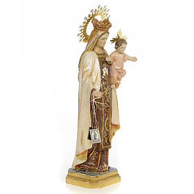 Our Lady of Mount Carmel wood paste 40cm, extra finish s4