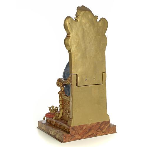 Sacro Cuore Maria su trono 50 cm pasta di legno dec. extra 3