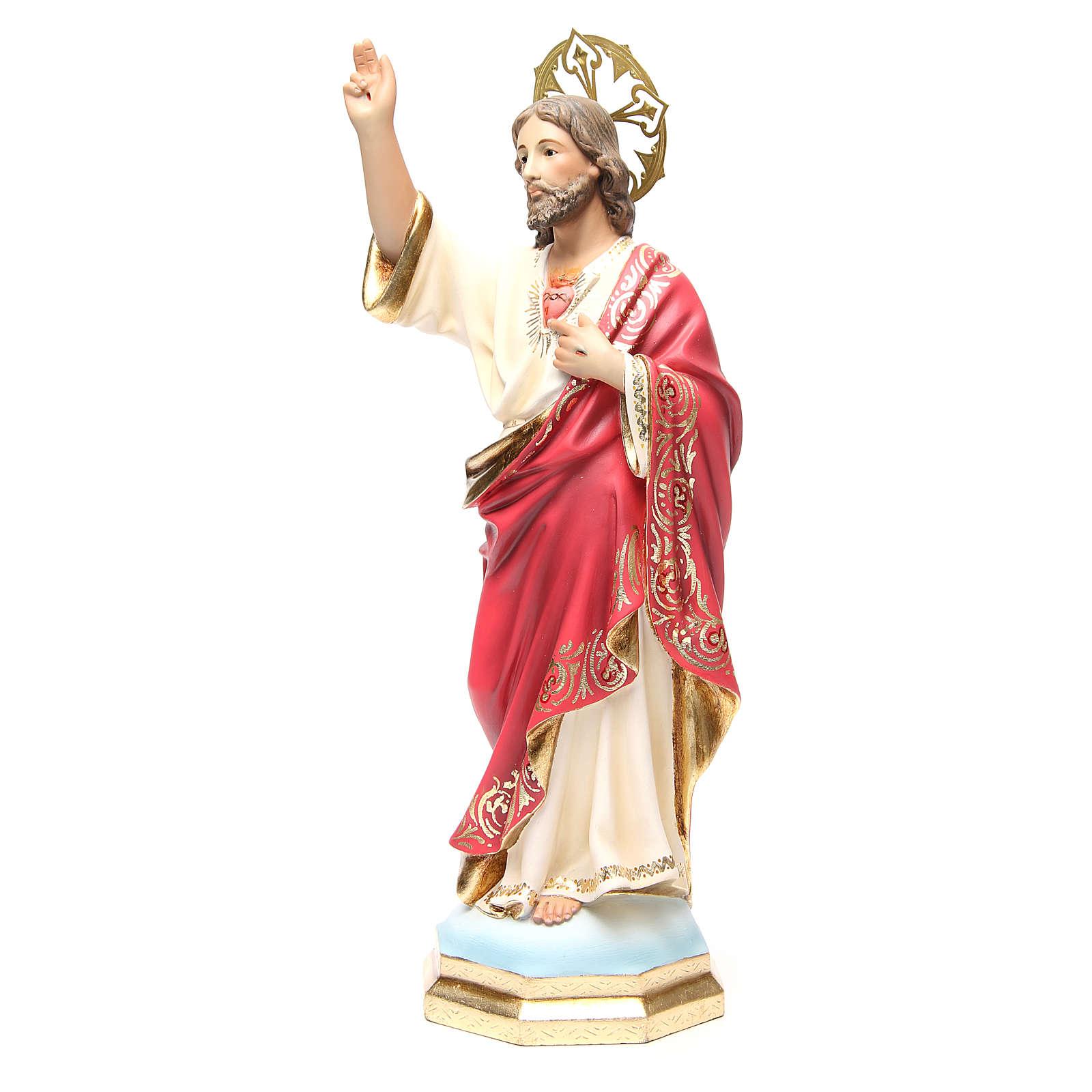 Sagrado Corazón de Jesús 40 cm, acabado superior 4