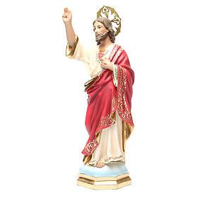 Sagrado Corazón de Jesús 40 cm, acabado superior s2