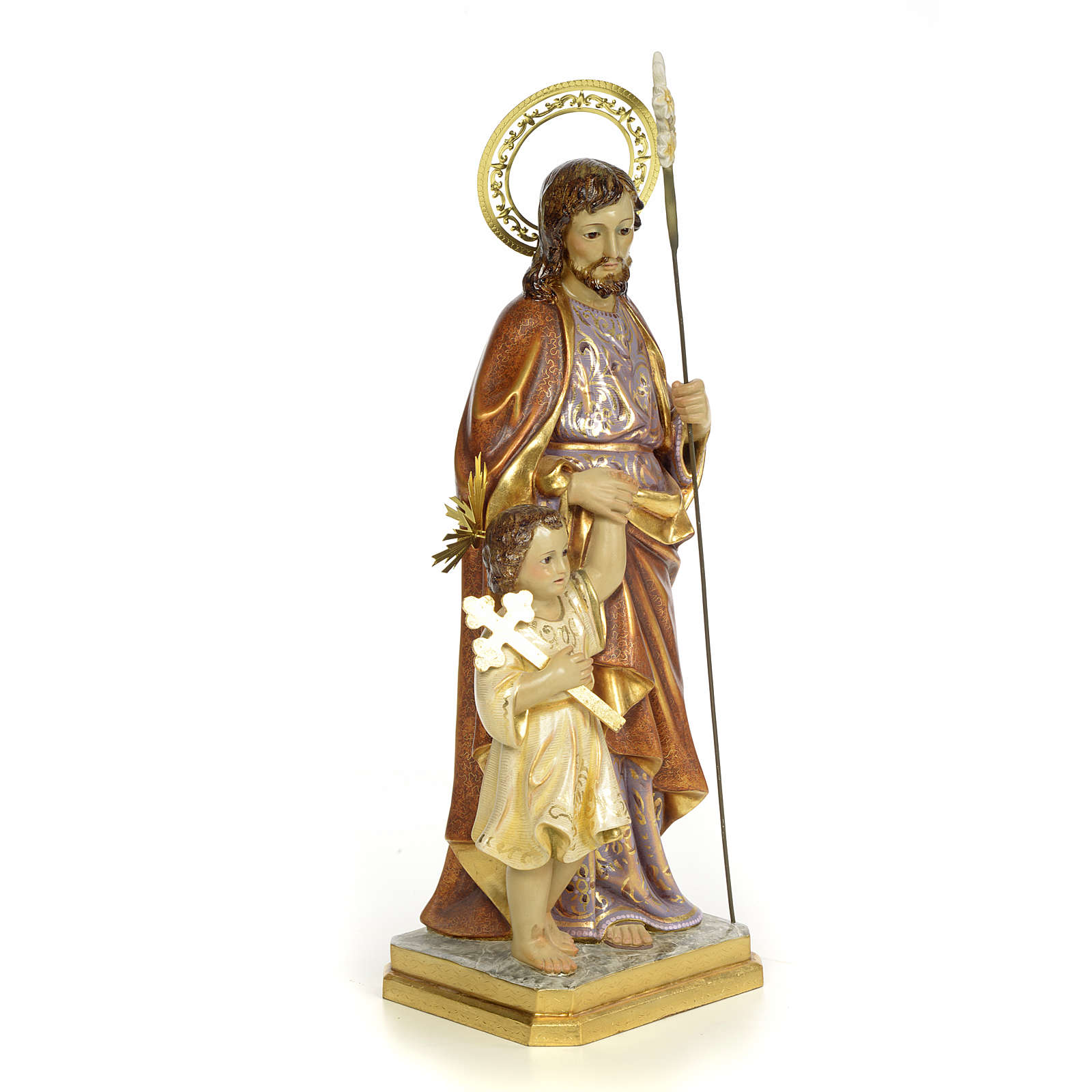 San Giuseppe 60 cm pasta di legno dec. extra 4