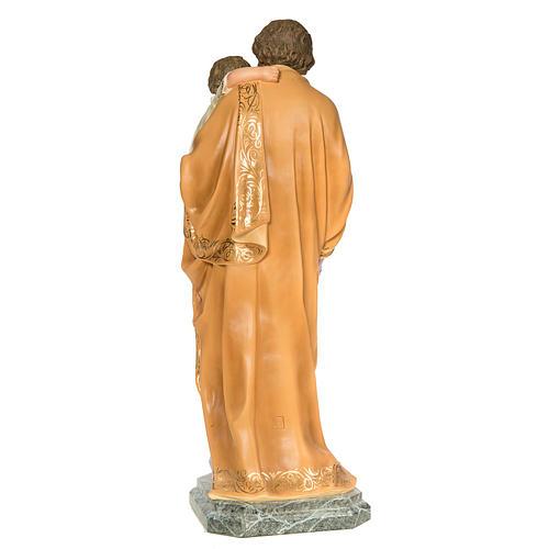 San Giuseppe Bambino in braccio 110 cm pasta legno dec. elegante 5