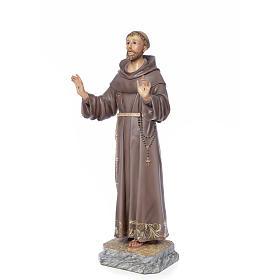 San Francesco d'Assisi 80 cm pasta di legno dec. elegante s4