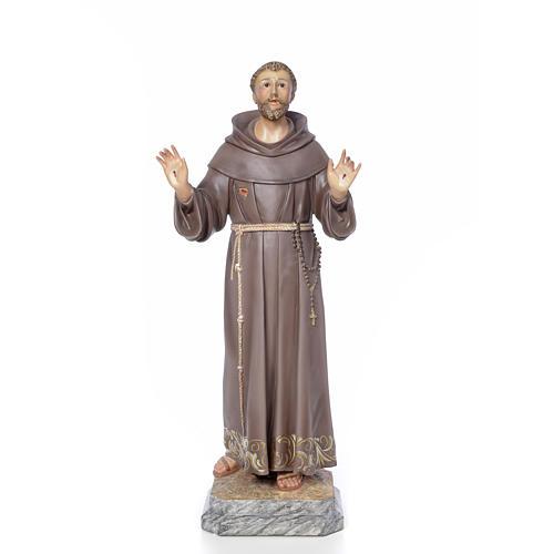 San Francesco d'Assisi 80 cm pasta di legno dec. elegante 1