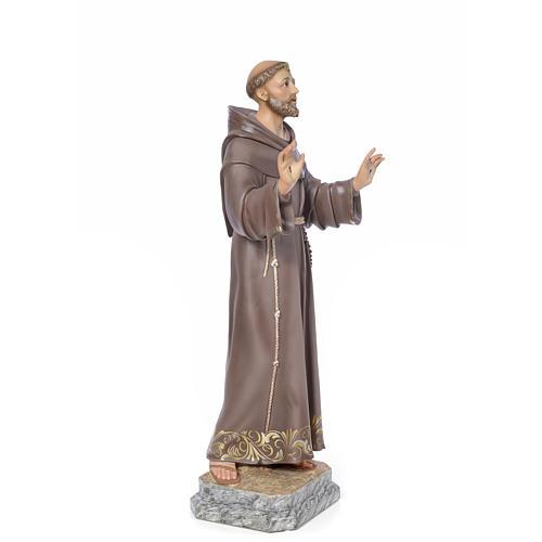 San Francesco d'Assisi 80 cm pasta di legno dec. elegante 2