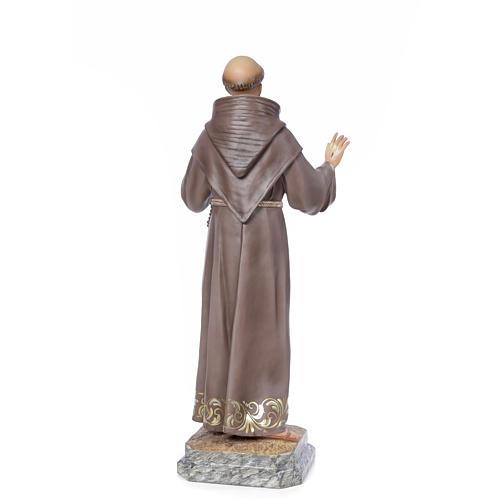 San Francesco d'Assisi 80 cm pasta di legno dec. elegante 3