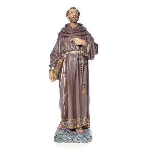 San Francesco d'Assisi 100 cm pasta di legno dec. elegante 1