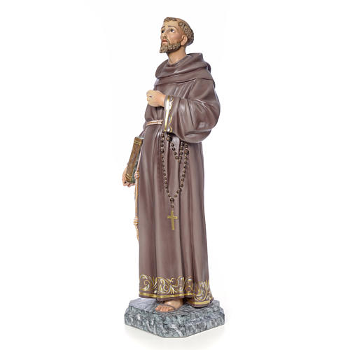 San Francesco d'Assisi 100 cm pasta di legno dec. elegante 2