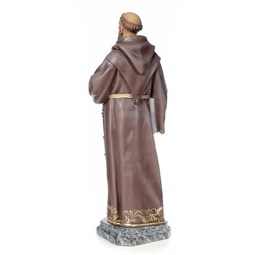 San Francesco d'Assisi 100 cm pasta di legno dec. elegante 3
