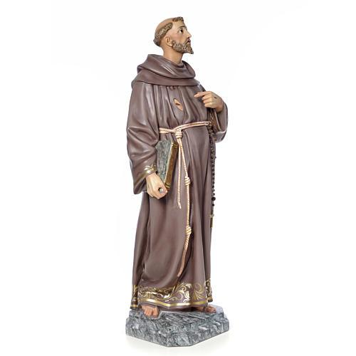 San Francesco d'Assisi 100 cm pasta di legno dec. elegante 4