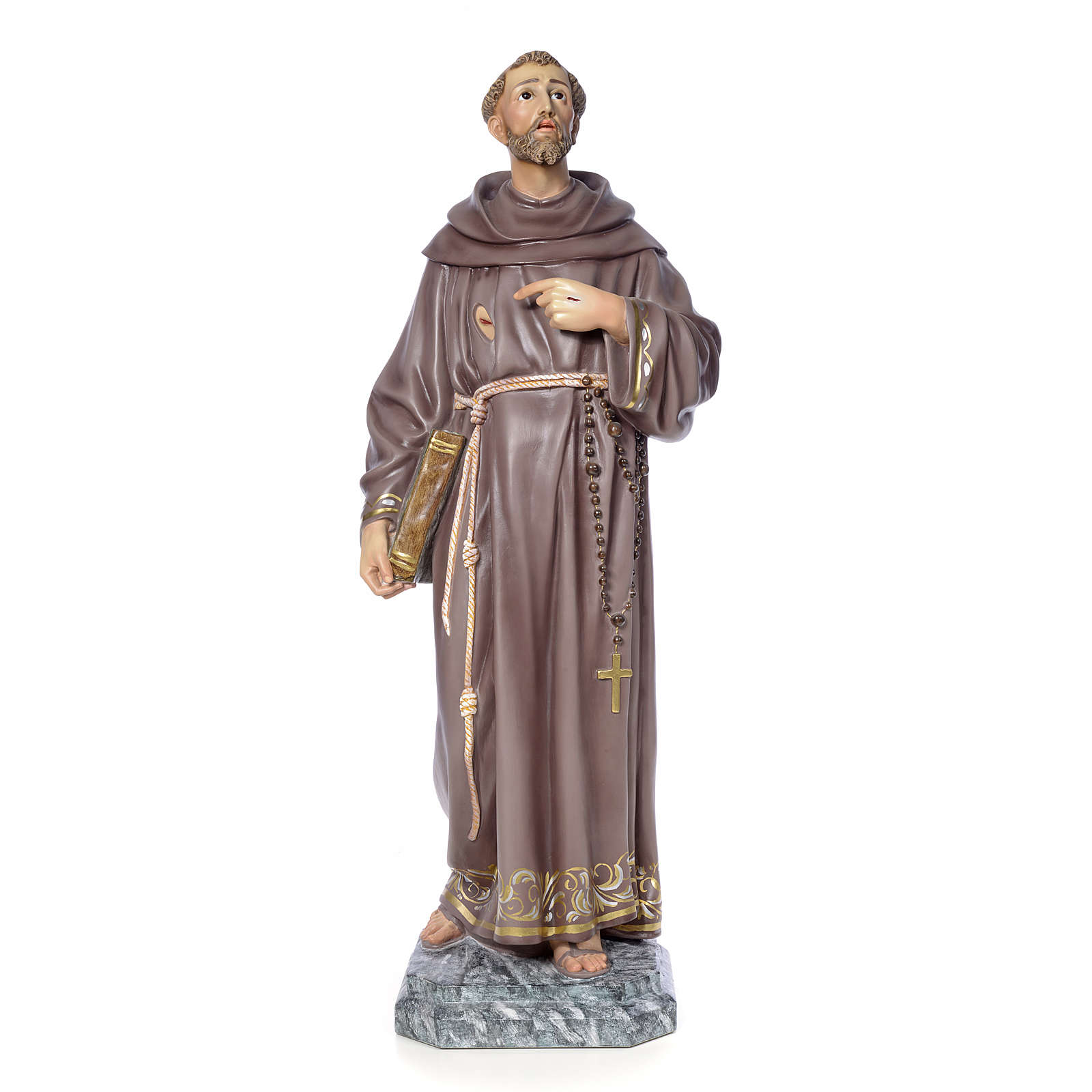 São Francisco de Assis 100 cm pasta de madeira acab. elegante 4