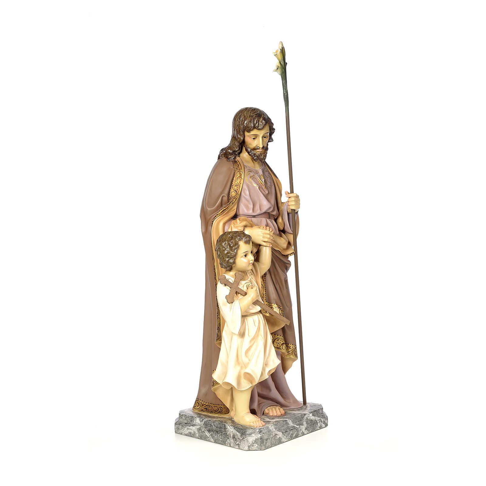 San Giuseppe 100 cm pasta di legno dec. elegante 4