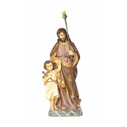 San Giuseppe 100 cm pasta di legno dec. elegante 1