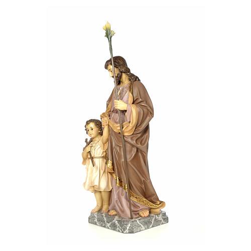 San Giuseppe 100 cm pasta di legno dec. elegante 2