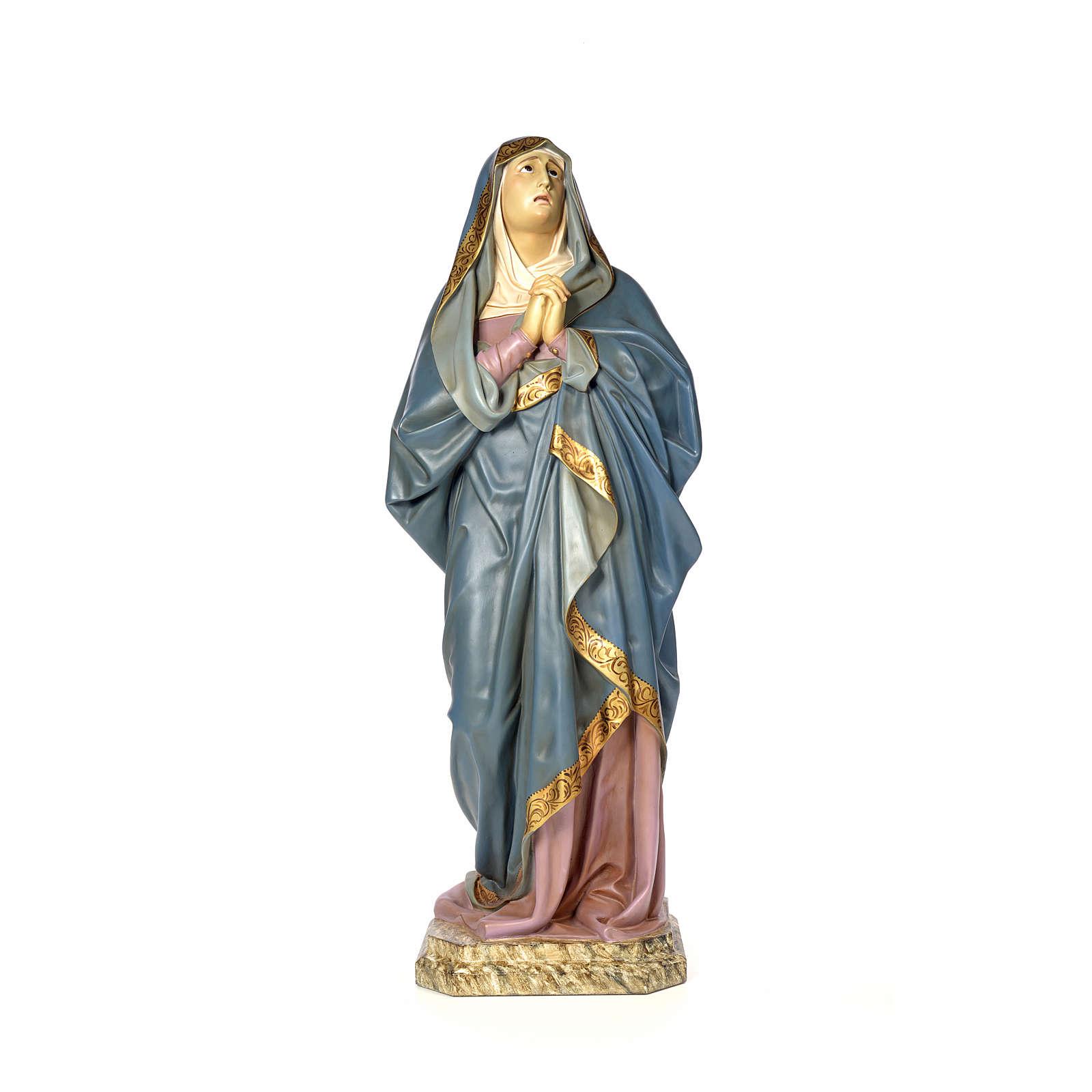 Vergine Addolorata 120 cm pasta di legno dec. anticata 4