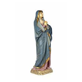 Vergine Addolorata 120 cm pasta di legno dec. anticata s4