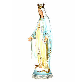 Vergine Miracolosa 120 cm pasta di legno dec. elegante s2