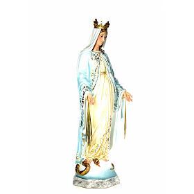Vergine Miracolosa 120 cm pasta di legno dec. elegante s4