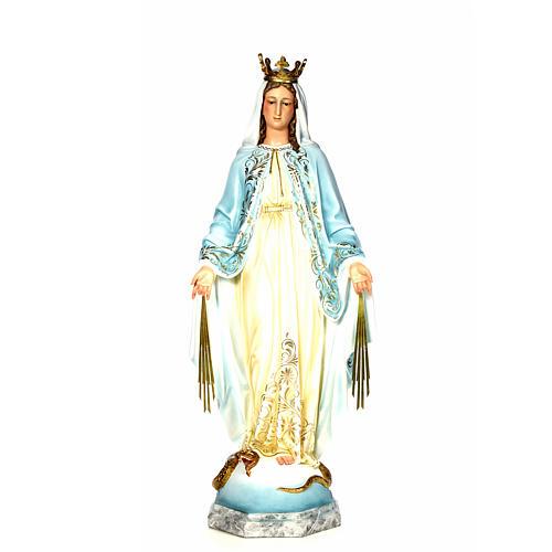 Vergine Miracolosa 120 cm pasta di legno dec. elegante 1