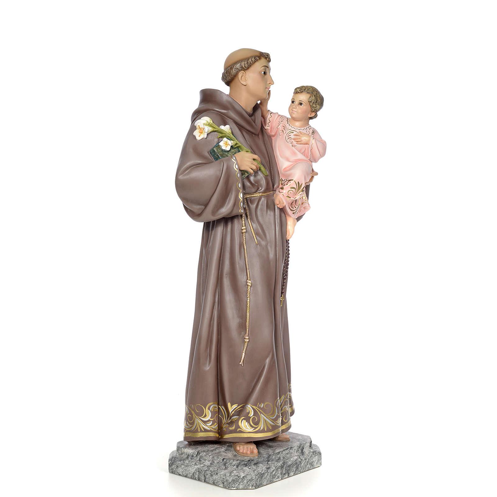 Sant'Antonio da Padova 100 cm pasta di legno dec. elegante 4