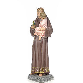 Sant'Antonio da Padova 100 cm pasta di legno dec. elegante s2