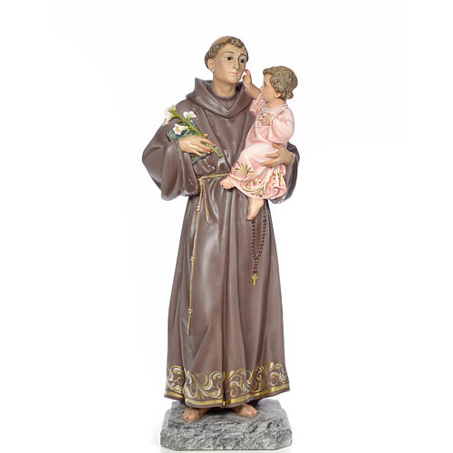 Sant'Antonio da Padova 100 cm pasta di legno dec. elegante 1