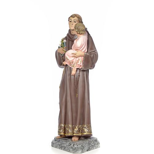 Sant'Antonio da Padova 100 cm pasta di legno dec. elegante 2