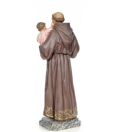 Sant'Antonio da Padova 100 cm pasta di legno dec. elegante 3