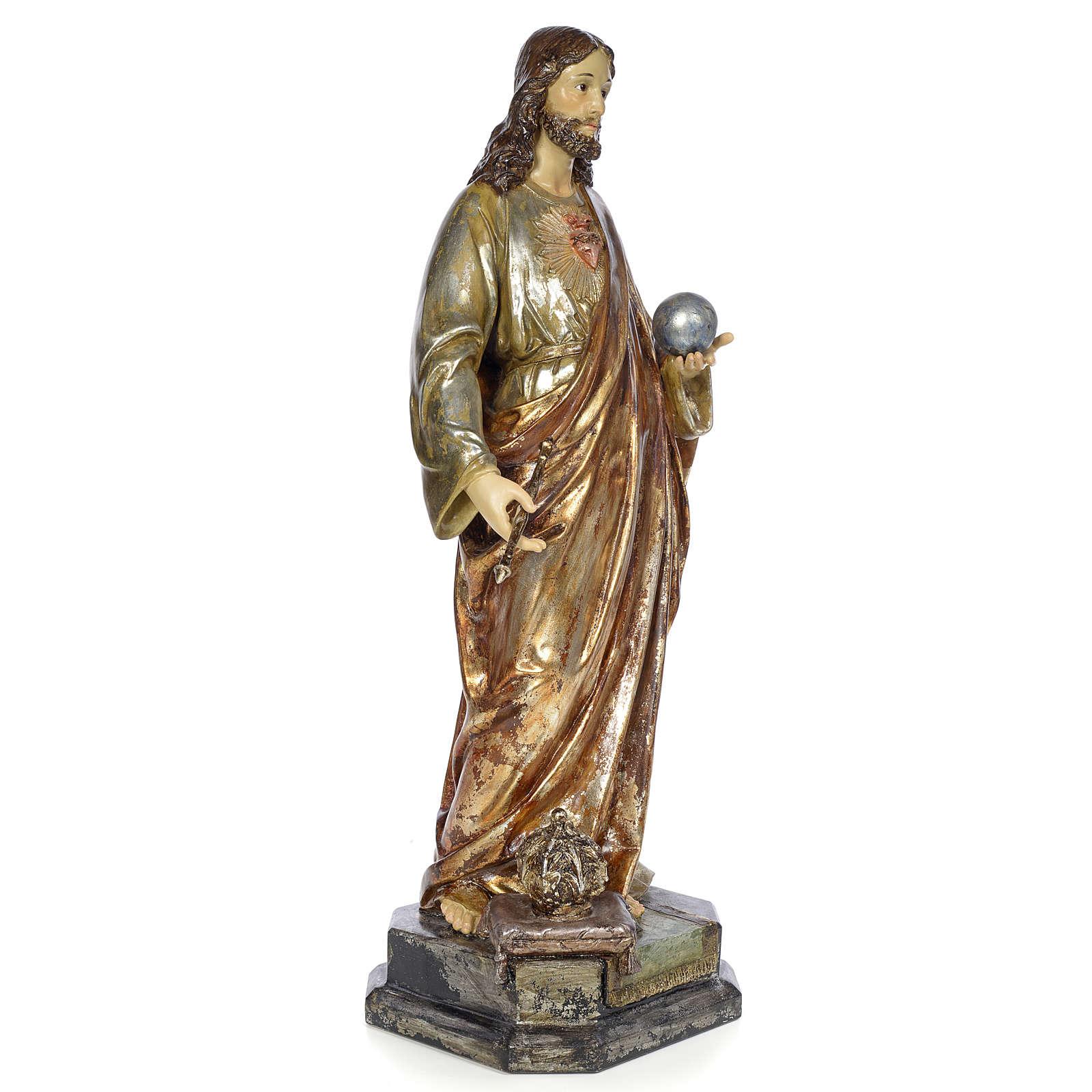 Cristo Sacerdote Rey 80cm pasta de madera dec. polícroma 4