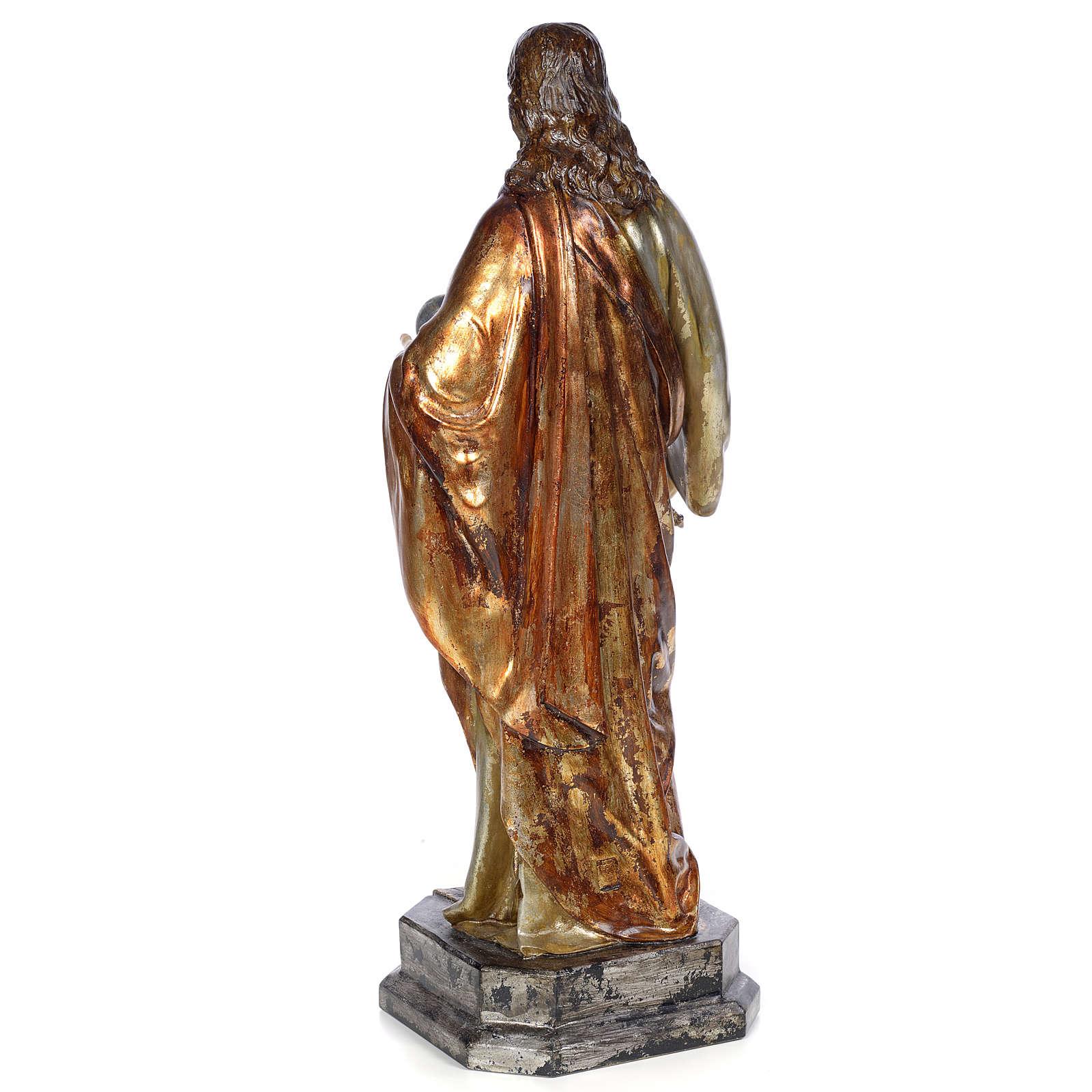 Christ Roi 80 cm pâte à bois finition polychrome 4