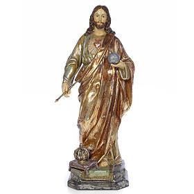 Christ Roi 80 cm pâte à bois finition polychrome s1