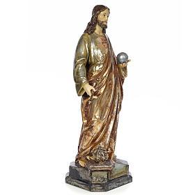 Christ Roi 80 cm pâte à bois finition polychrome s4