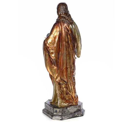 Christ Roi 80 cm pâte à bois finition polychrome 3