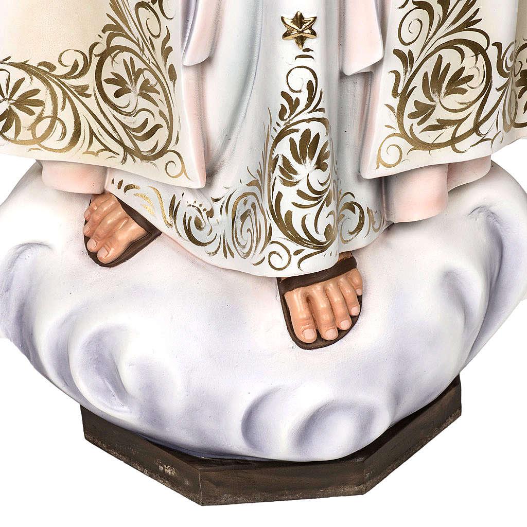 Virgen de Fátima 120cm pasta de madera dec. elegante 4