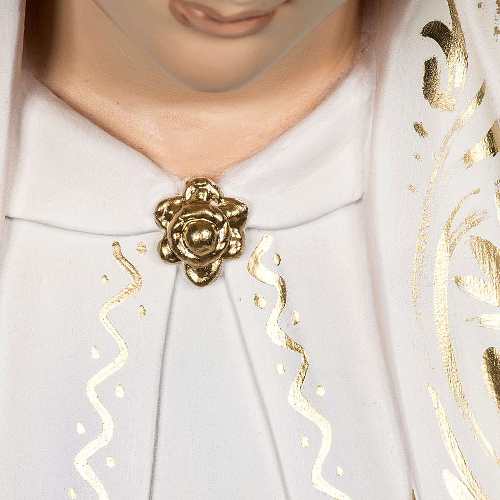 Vierge de Fatima 120 cm pâte bois élégante 4