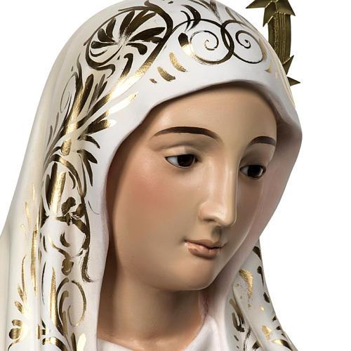 Vierge de Fatima 120 cm pâte bois élégante 2