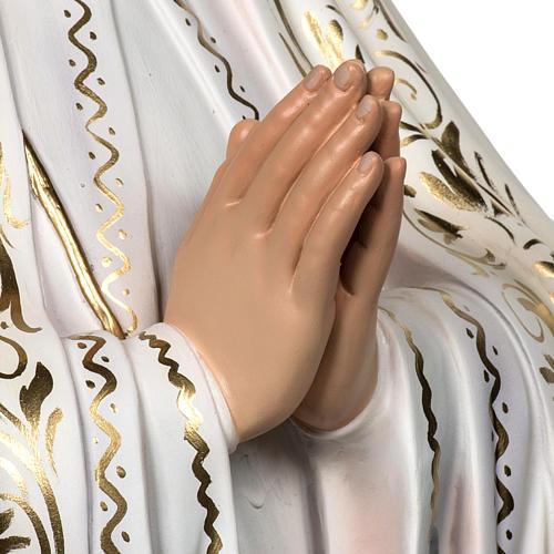 Madonna di Fatima 120 cm pasta di legno dec. elegante 3