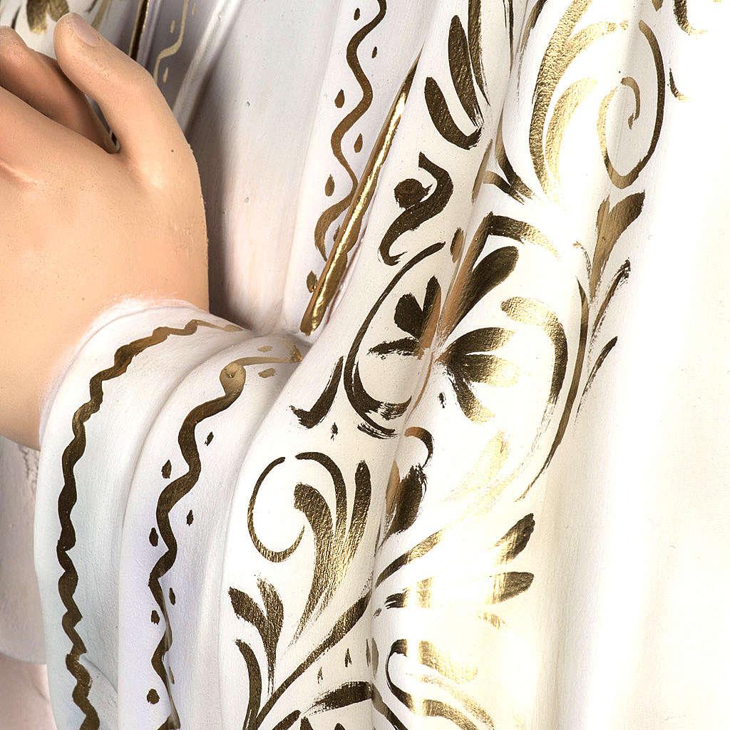Nossa Senhora de Fátima 120 cm pasta de madeira acab. elegante 4