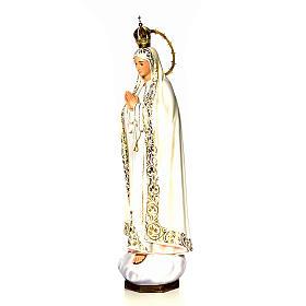 Nossa Senhora de Fátima 120 cm pasta de madeira acab. elegante s11