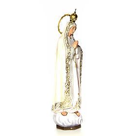 Nossa Senhora de Fátima 120 cm pasta de madeira acab. elegante s13