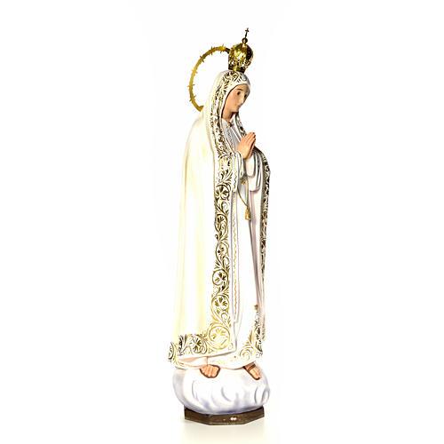 Nossa Senhora de Fátima 120 cm pasta de madeira acab. elegante 13