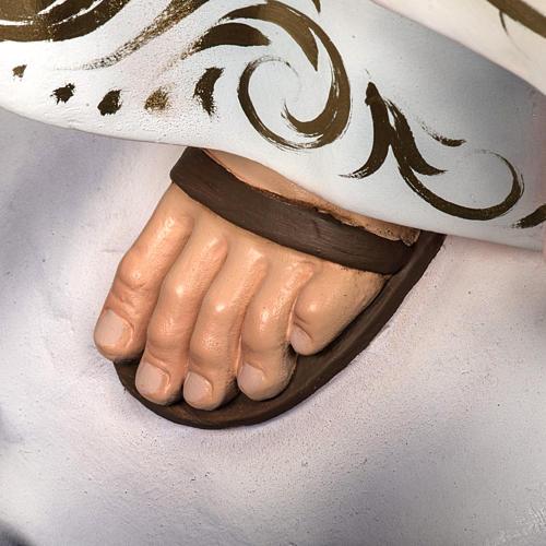 Nossa Senhora de Fátima 120 cm pasta de madeira acab. elegante 6