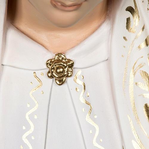 Nossa Senhora de Fátima 120 cm pasta de madeira acab. elegante 8