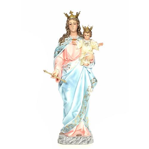 Matka Boża Wspomożycielka 120 cm ścier drzewny dek. elegancka 1