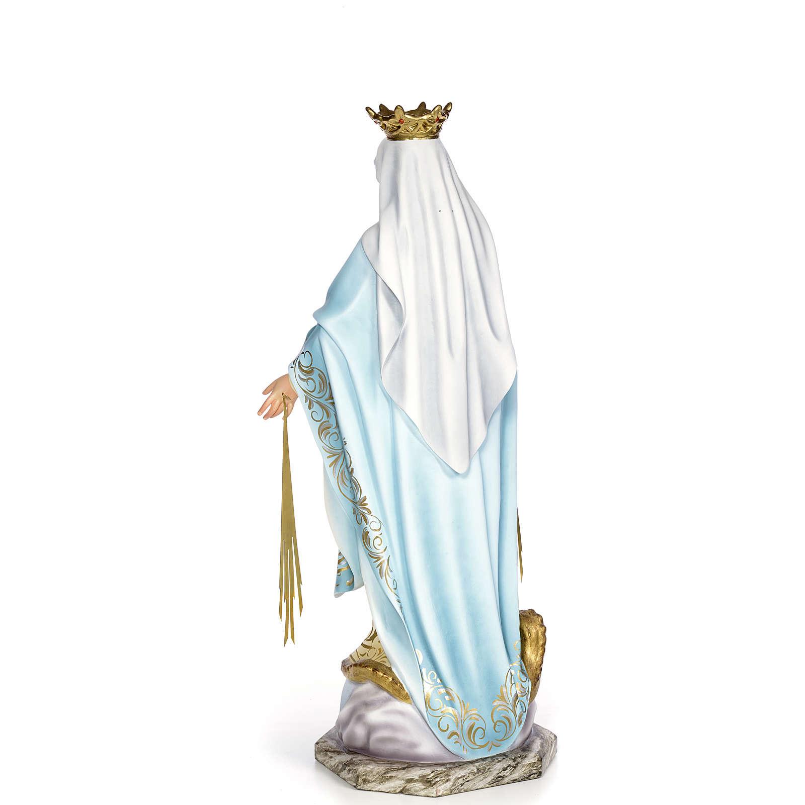 Vergine Miracolosa 80 cm pasta di legno dec. elegante 4