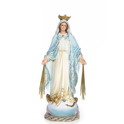 Vergine Miracolosa 80 cm pasta di legno dec. elegante 1