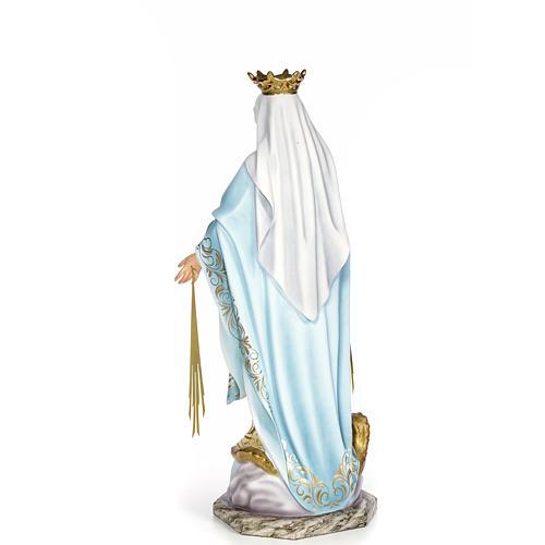 Vergine Miracolosa 80 cm pasta di legno dec. elegante 3