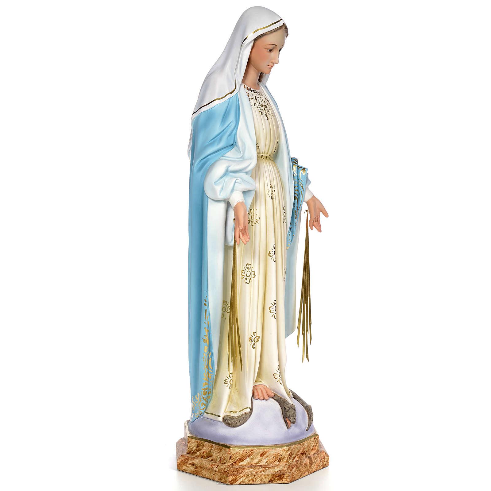 Miraculous Madonna 80cm wood paste, elegant decoration 4