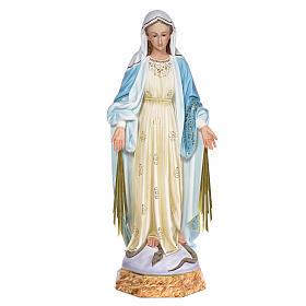 Miraculous Madonna 80cm wood paste, elegant decoration s1